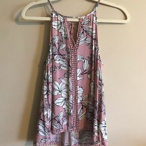 Charlotte Russe Pink Floral Cami